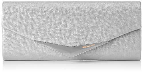 Tamaris Damen Tamara Clutch Bag Silber (Silver), 5x11x26 cm