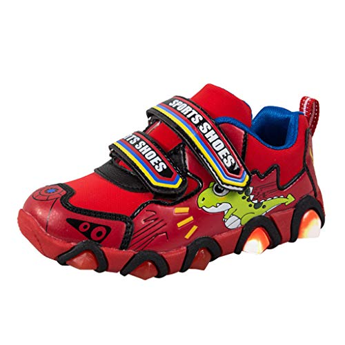 Beikoard Kleinkind Kinder Baby Jungen Mädchen Karikatur-Dinosaurier Tatze leuchtender Sport beschuht Turnschuhe Beleuchtung Schuhe Sportschuhe Laufschuhe ()