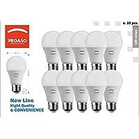 SET di 10 LAMPADINE LED GOCCIA A60 PEGASO, 10W 810 Lumen, Attacco E27, LUCE CALDA 3000K° , Angolo di illuminazione: 230°