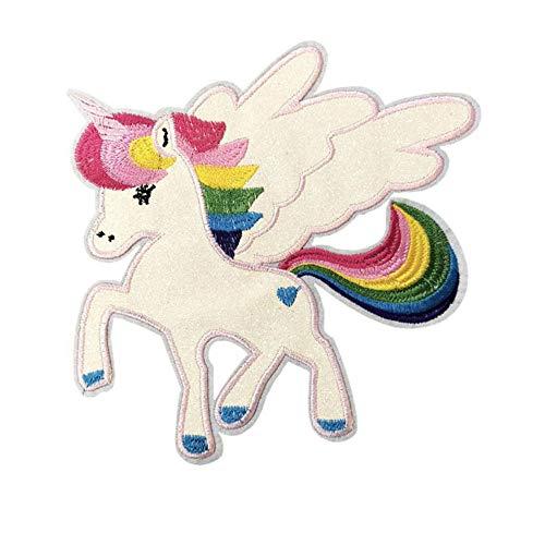 ANGLE Lentejuelas Grandes Unicornio Pegasus Bordado