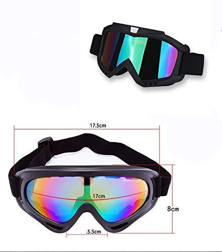 EASY4BUY® Plastic Adult Motorbike ATV/Dirt Bike Racing Transparent Goggles with Adjustable Strap (Multicolour)