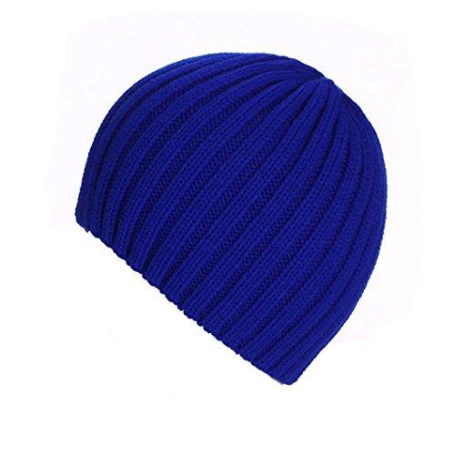 Amlaiworld Strickmützen, Unisex warm Knit ski Baggy Cap Winter Hat (Blau) - Blaue Ski-knit Beanie Cap