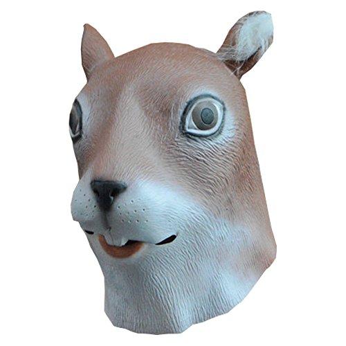 UDreamTime Neuheit Halloween-Kostüm-Party Latex Eichhörnchen Kopfmaske (Hund Eichhörnchen Halloween-kostüm)