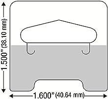 100transparente autoadhesivo Medium Duty ranura colgar Tab etiquetas 14oz límite Retail Perchas