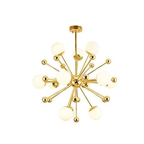 European Style Creative Glass Ball Kronleuchter, Luxus Persönlichkeit Gold Deckenleuchte für Schlafzimmer, Restaurant, (Bad Scheuern)