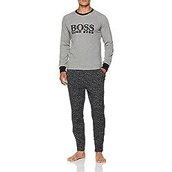 BOSS Relax Long Set, Pijama para Hombre, Gris (Medium Grey 030), (Pack de 2)