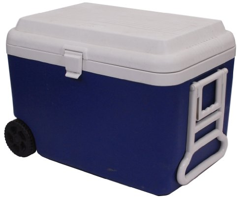 Epicurean Europe Kühlbox mit Rädern, Polypropylen, 61x40x45cm, 50l, Blau/Weiß