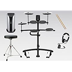Roland TD-1K V-Drums & PM-03 Personal Monitor Electronic Drum Kit Pack Includes : Stool, Sticks, Headphones