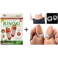 10 Cleansing Detox Foot Pads Patches 10 pads + une Paire de Silicone Efficace Amincissant Anneaux Toe acupression Avec Magnets ... de BOOLAVARD
