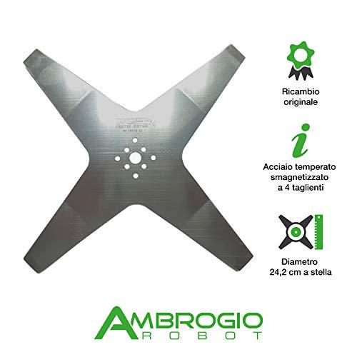 Ambrogio Robot Lama di Taglio per L60 da 24,2cm a Stella 4...