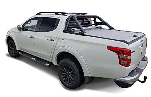 Fahrzeugspezifischer Schwarzer Überrollbügel 76mm mit Gitter & LED Rückleuchte inkl. Teilegutachten - passend für alle Kabienentypen.