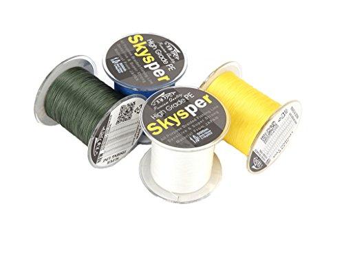 Skysper® 500m Fil de tresse Peche PE mer riviere 8LB-100LB 6 Couleurs