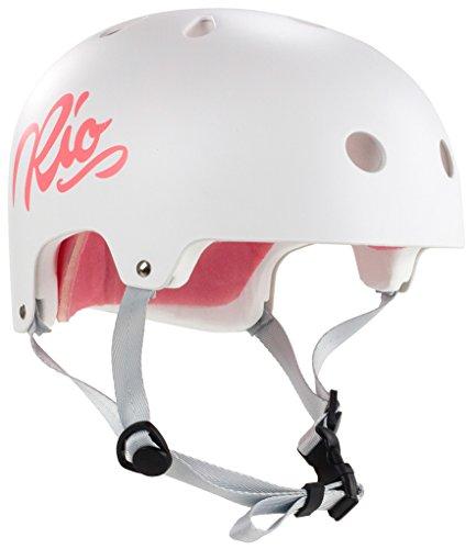 Rio Roller Script Helm weiß white, XXS/XS (49-52 cm)