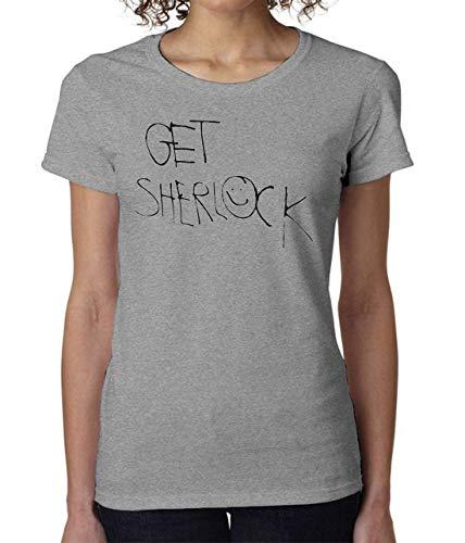 Get Sherlock Holmes Sign Women's T-Shirt Damen Short Sleeve Top Medium