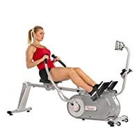 Sunny Health & Fitness Unisex Adult SF-RW5864 Full Motion Magnetic Rowing Machine - Silver, One Size