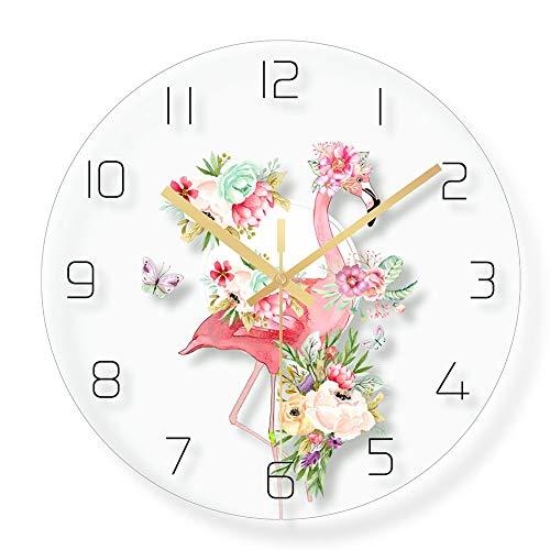 ss Stille Wanduhr, Runde Transparente minimalistisch Pünktlich Uhren Keine tickende Moderne Dekoration Für Schlafzimmer Büro Bar-E ()