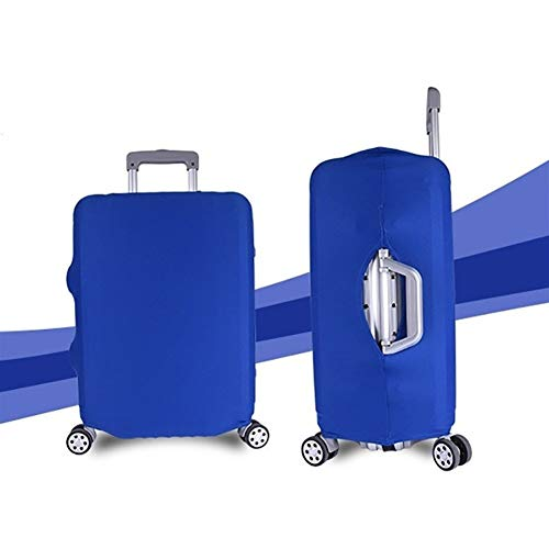 Marching orchid Koffer Travel Case Cover Verdickter Trolley Staubdicht und Kratzfest Elastic Multi-Size (Color : Blue, Size : 22-25 inch (M))