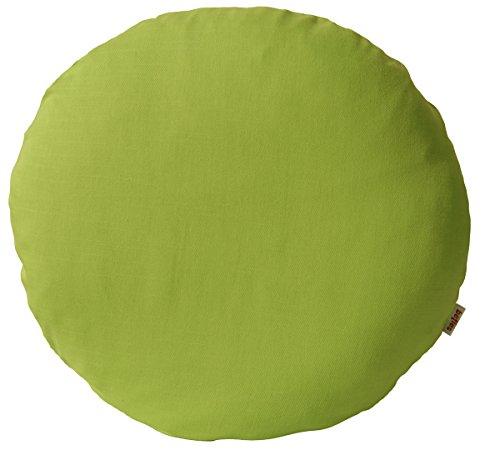 Slub-baumwolle Kurz (beties Farbenspiel Kissenhülle rund ca. 50 cm Ø in interessanter Größen- und Farbauswahl 100% Baumwolle für eine fröhlich Stimmung Uni Farbe (Grün))