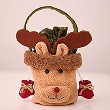 Bellaluee Christmas Old Man Snowman Elk Candy Bags Christmas Eve Apple Bag Gift Bags
