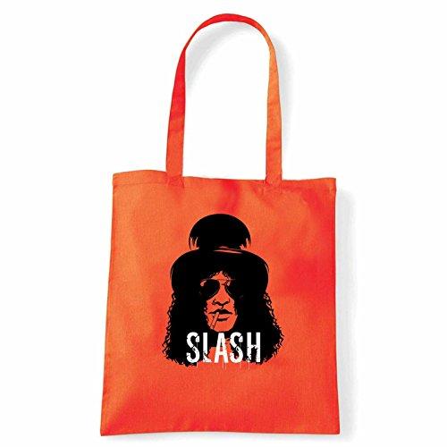 Art T-shirt, Borsa Shoulder Slash, Shopper, Mare Arancio