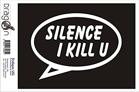 Sticker / Bumper / JDM / Die cut - Silence I Kill you - 150x110 mm pink