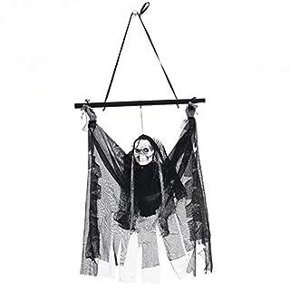 GEZICHTA Halloween-Requisiten mit Beleuchtung Skelett Geister Haunted House Hängedeko Indoor Halloween Dekoration Rep