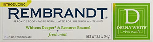 Rembrandt Plus Premium Whitening Toothpaste With Peroxide, Fresh Mint, 2.6 Oz