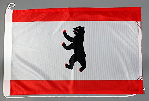 Bootsflagge Berlin 30 x 45 cm in Profiqualität Flagge Motorradflagge