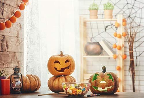 WaW Halloween Hintergrund Fotografie Foto Kulisse Kinder (7x5ft, Halloween Kürbis)