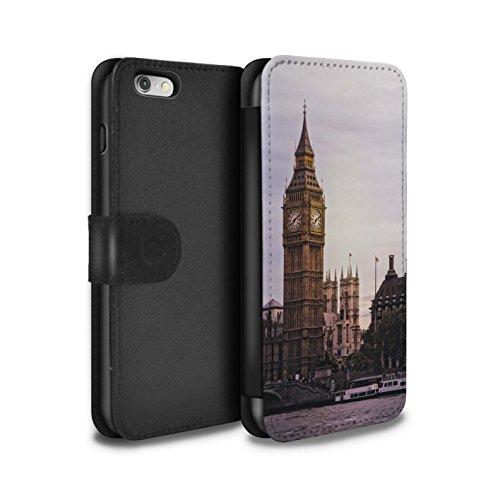 STUFF4 PU-Leder Hülle/Case/Tasche/Cover für Apple iPhone 6S / Tower Bridge Muster / Seiten London Kollektion Big Ben