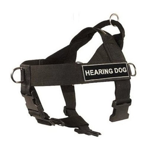 DT-Universal-No-Pull-Dog-Harness-Hearing-Dog-Black-X-Large-Fits-Girth-Size-91cm-to-119cm