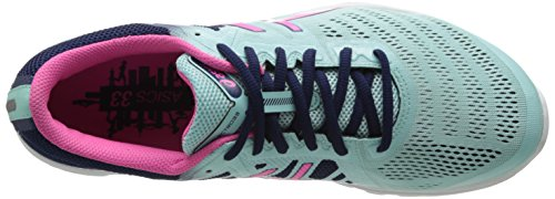 Asics Gel-Electro33 Synthétique Chaussure de Course Ice Blue-Hot Pink-Navy