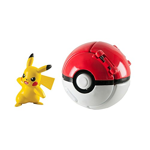 LSXSZZ8 Pokemon Pikachu with Great Ball Throw n Pop Action Figure Toy Set