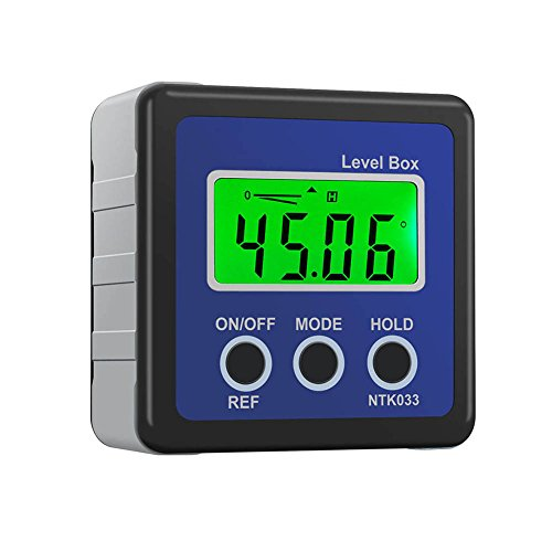 Crewell Digital Box Gauge Winkel Winkelmesser Level Neigungsmesser magnetisch Boden 0–360Grad Blau