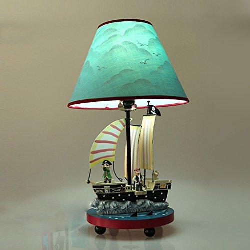 amos piraten tischlampe mittelmeerjunge schlafzimmer nachttischlampe kreatives kinderzimmer. Black Bedroom Furniture Sets. Home Design Ideas