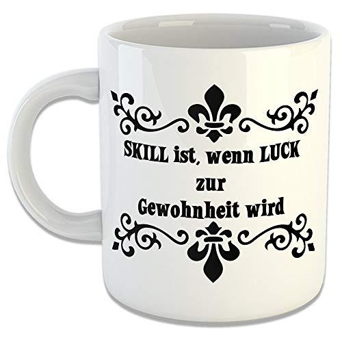 avandoo Tasse 'Skill ist.' - Kaffeetasse Becher Kaffeebecher Geschenkidee Büro Frühstück Kaffe...