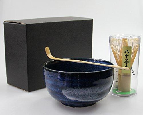 Matcha Set 3-teilig Schale [ Chawan ] Bambusbesen [ Chasen ] Bambuslöffel #4 Portion Utensil Set