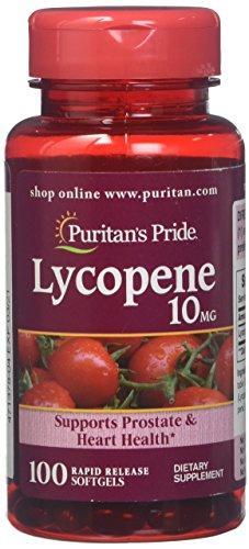 Licopeno 10 mg 100 cápsulas. Puritan's Pride 1 und.