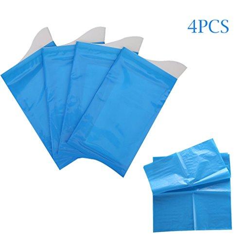 Urinal-tasche (Abseed 4er Set Tragbare Portable Toilette Urinbeutel Einweg-Urinbeutel für Camping Car Reise Notfall für Männer, Frauen, Kinder (4 Blau))