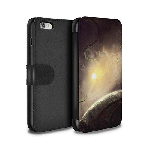 Offiziell Chris Cold PU-Leder Hülle/Case/Tasche/Cover für Apple iPhone 6 / Entfernten Stern Muster / Galaktische Welt Kollektion Entfernten Stern