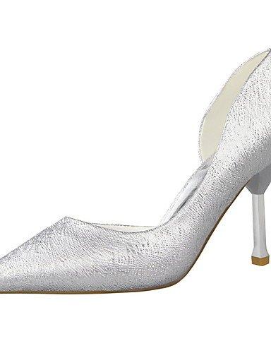 WSS 2016 Chaussures Femme-Habillé-Noir / Rose / Blanc / Argent / Gris / Amande-Talon Aiguille-Talons / Bout Pointu / Bout Fermé-Talons-Similicuir almond-us5.5 / eu36 / uk3.5 / cn35