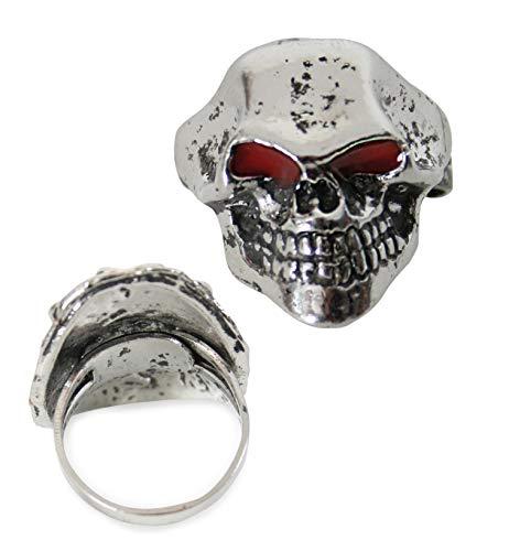 FASCHING 81101 Halloween-Ring Totenkopf Pirat NEU/OVP
