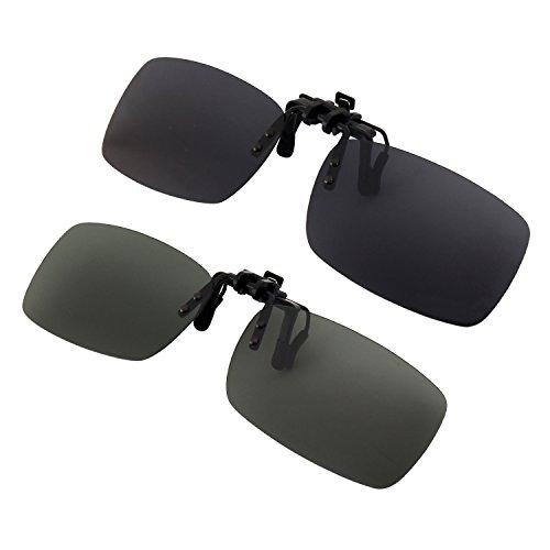 GQUEEN Polarisierte angeklippt Flip Randlose Rechteck Objektiv Außen Fahren Angeln Sonnenbrillen,JP24
