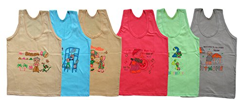 Junior VEST / Kids Inner wear (Baniyan) 6-color 06-pc Peck of 06 (2-3 Years)