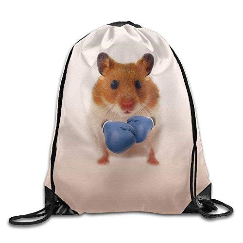 ziHeadwear Hamster Boxer Drawstring Backpack Rucksack Shoulder Bags Training Gym Sack for Man and Women
