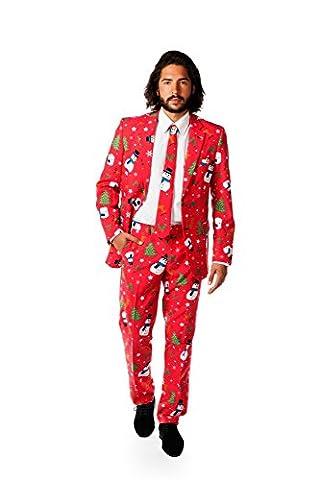 Opposuits OSUI-0020-EU56 - Christmaster - Weihnachts Anzug, Party Kostüm, Größe 56, mehrfarbig (Little Trees Kostüm)