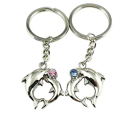 Wonque Schlüsselanhänger, Schlüsselanhänger, Delfin-Form, 2 Stück Delfin-form