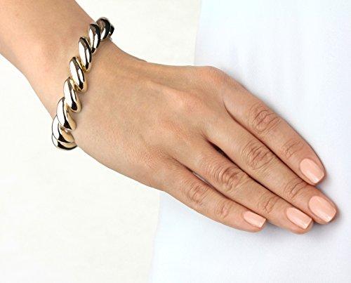 Carissma Gold - Bracelet cordon - Or blanc 9 cts - 20.32 cm - 5.29.6113 Or Jaune