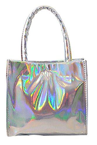 Fashion Bag, Borsa a spalla donna, Oro (oro), Argento (argento)