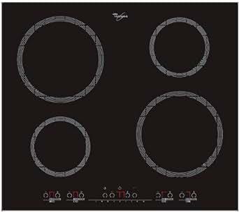 Whirlpool ACM 703 IX Plaque de Cuisson Induction 60 cm Noir et Inox